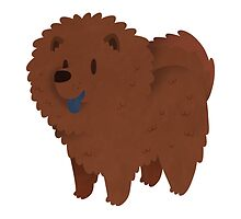 Fluffy Chow Chow Dog by Claire Stamper