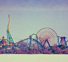 Cedar Point Skyline by SRowe Art
