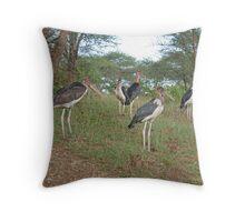 The Marabou Gang, Serengeti National Park, Tanzania Throw Pillow