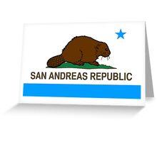 San Andreas Republic Greeting Card