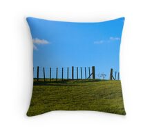 Rolling Hills and Blue Sky Throw Pillow