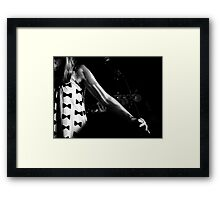 Structure and shadows make the music Framed Print