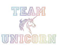 Team Unicorn Photographic Print