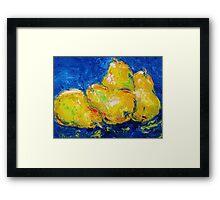 Four Plump Pears  Framed Print
