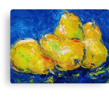Four Plump Pears  Canvas Print