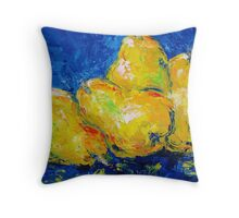 Four Plump Pears  Throw Pillow