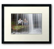 Behind the Rush Framed Print