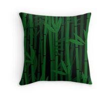 Bamboo trees Throw Pillow