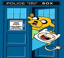 Adventure time police box by JackCustomArt
