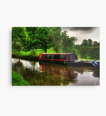 Canal Narrow Boat - Ripon Metal Print