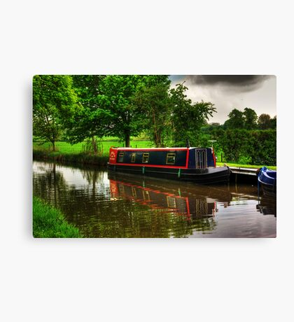 Canal Narrow Boat - Ripon Canvas Print