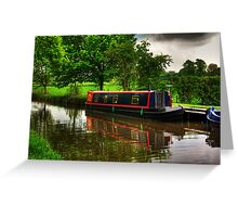 Canal Narrow Boat - Ripon Greeting Card