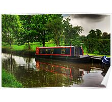 Canal Narrow Boat - Ripon Poster