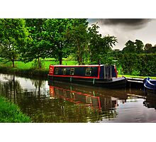 Canal Narrow Boat - Ripon Photographic Print