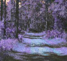 Landscape in Purple & Orange 3285 Sticker