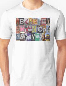 Las Vegas Sign Alphabet Unisex T-Shirt
