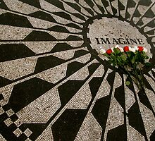imagine - strawberry fields - NYC - Central Park  by bron stadheim