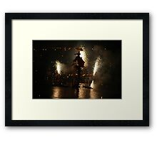 """Water Fools"": Water Wheel, Water Bed, Lantern Boat Framed Print"