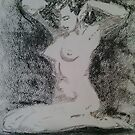 Charcoal figure study by Michael Birchmore