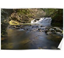Falls Along Mill Brook - Under the Cliff Poster