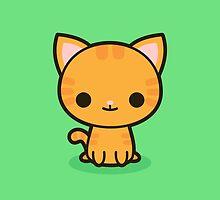 Kawaii ginger cat by peppermintpopuk