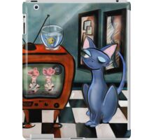 Fishing Show is in Re-Run, mid century modern, cat,decor, Alma Lee iPad Case/Skin
