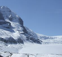 Athabasca Glacier, Columbia Icefield. BC. Canada, April 2007. by Phil Mitchell