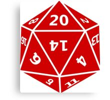 20 Sided Dice D20 Canvas Print