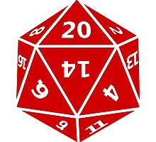 20 Sided Dice D20 Photographic Print