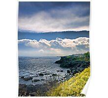 Nuvole sulla scogliera Poster