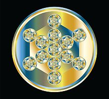 Metatron's Cube - Metallic 2 by Robyn Scafone