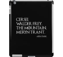 Arya's List iPad Case/Skin