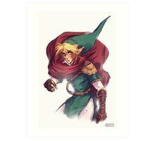 First Hero Link Portrait Art Print