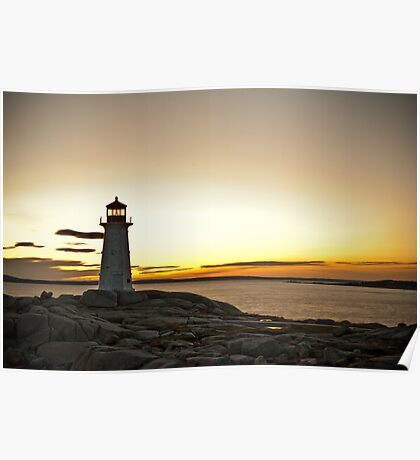 Peggy's Cove at Twilight Poster