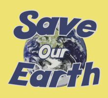 Save our earth for earth day Kids Clothes