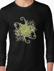 Lime and flowers garland Long Sleeve T-Shirt