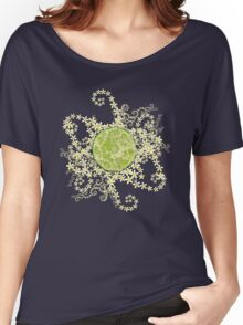 Lime and flowers garland Women's Relaxed Fit T-Shirt