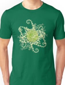 Lime and flowers garland Unisex T-Shirt