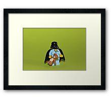 Sleepy Darth Vader Framed Print