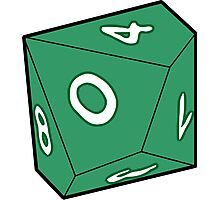 10 Sided Dice D10 Photographic Print