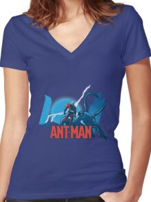 ANT-MAN / BAT-MAN MASHUP Women's Fitted V-Neck T-Shirt