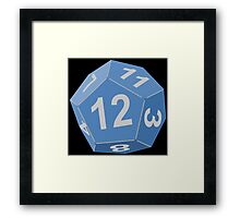 12 Sided Dice D12 Framed Print
