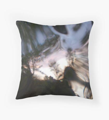 looking glass world Throw Pillow