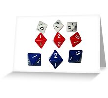 8 Sided Dice D8 Greeting Card