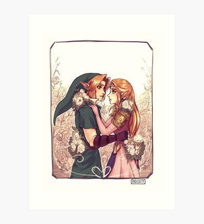 Zelda & Link Art Print
