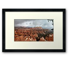 Bryce Canyon on a Cloudy Day Framed Print