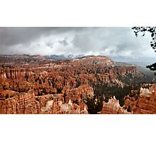 Bryce Canyon on a Cloudy Day Photographic Print