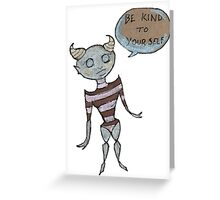 Self Care Alien Greeting Card