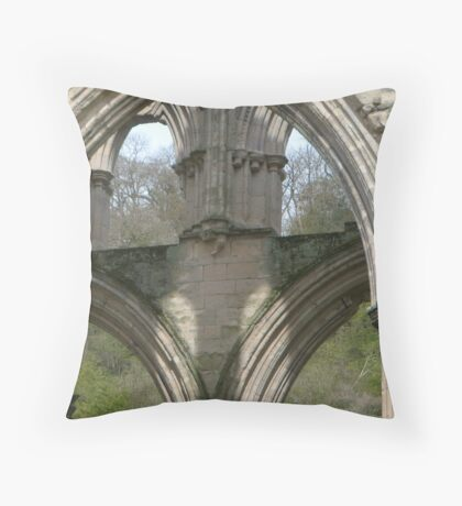 Close up of one of the Arches- Rievaulx Abbey Throw Pillow