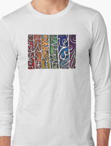 Tribal Rainbow Long Sleeve T-Shirt